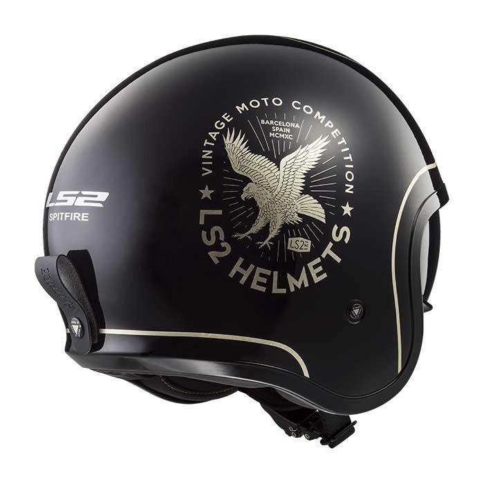 KASK LS2 OF599 SPITFIRE FLIER BLACK